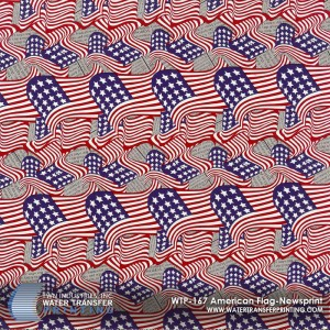 WTP-167 American Flag-Newsprint